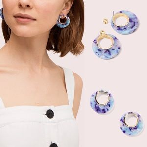 Kate Spade NY on the dot hoops earring NEW